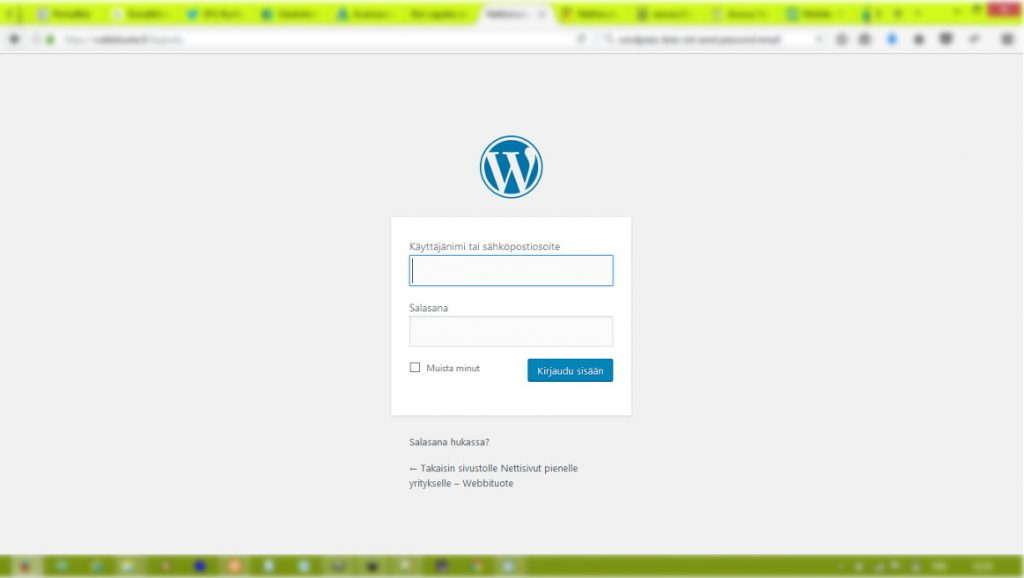 WordPressin sisäänkirjautuminen
