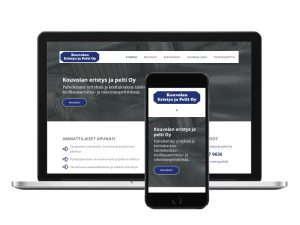 Nettisivut rakennusalan yritykselle - toteutus