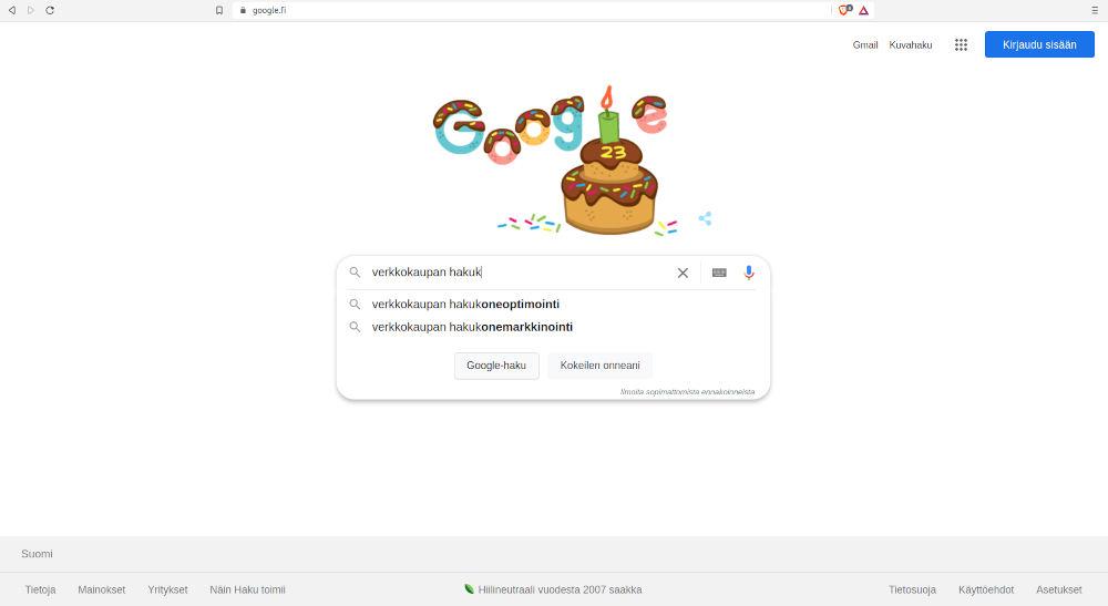 Verkkokaupan Google-optimointi